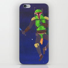 Boba Fett with a Lightsaber Collage iPhone & iPod Skin