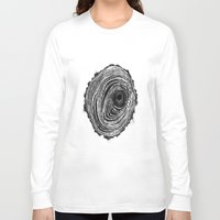 tree rings Long Sleeve T-shirts featuring Tree Rings - Dark by Emily Swedberg (Ito Inez)