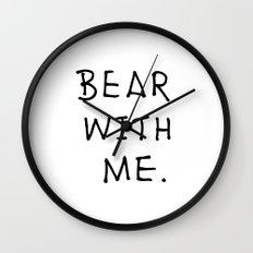 Bear with me 2 Wall Clock