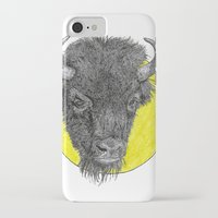 bison iPhone & iPod Cases featuring Bison by Triple_S_Art