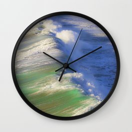 Breaking Waves Wall Clock