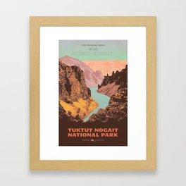 Tuktut Nogait National Park Framed Art Print