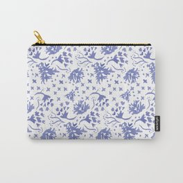 Indigo Floral Toss Carry-All Pouch