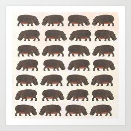 Hippo,hippo Art Print