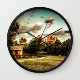 Southwest Chimney Rock Vortex Sedona Arizona Wall Clock