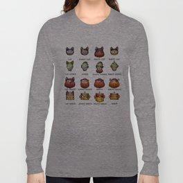 Cat Zombie Pirate Robot Long Sleeve T-shirt