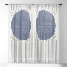 Blue Perfect Balance Sheer Curtain