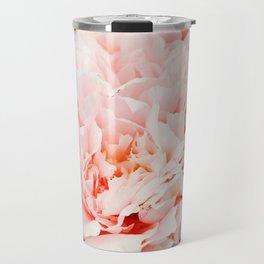 Peony Flower Photography, Pink Peony Floral Art Print Nursery Decor A Happy Life  - Peonies 1 Travel Mug