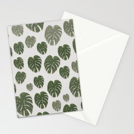 Mini Monstera collection white background Stationery Cards