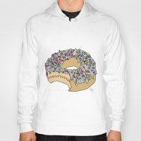 doughnut Hoodies featuring Doughnut by Amber Lily Fryer
