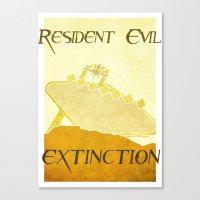 resident evil Canvas Prints featuring Resident Evil Extinction by JackEmmett