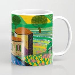 Farm House in fields Coffee Mug
