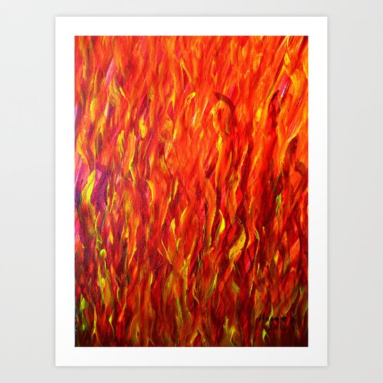 Flames/abstract Art Print