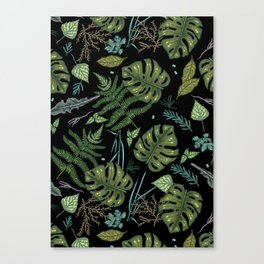 Green summer jungle Canvas Print