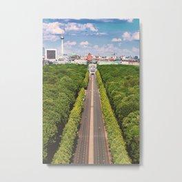 Tiergarten Berlin City Germany | Aerial Photography  Metal Print