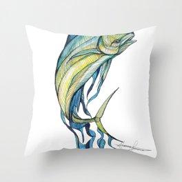 The Glass Mahi Mahi  Throw Pillow