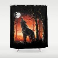 werewolf Shower Curtains featuring Werewolf by Antracit