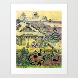Mu Guai and the Tiger's Eye, Panel 1 Art Print