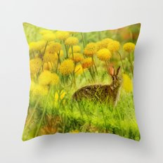 Funny Bunny Throw Pillow
