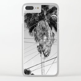 powerline palm Clear iPhone Case