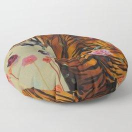 Rosey Tiger Floor Pillow