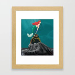 ariel and ganondorf Framed Art Print