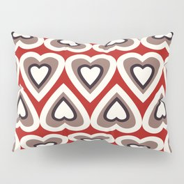 Strawberry and Chocolate Cream Love Hearts Pillow Sham