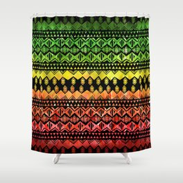 One Love Tribal {black} Shower Curtain