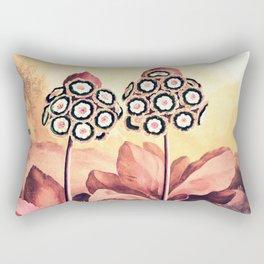 Rose Gold Pink Auriculas Templa of Flora Rectangular Pillow