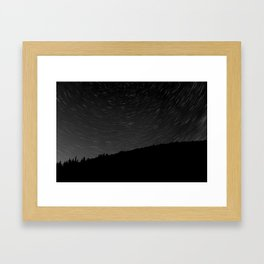 Rotating Startrails Framed Art Print