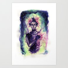 the one with the flowers Art Print