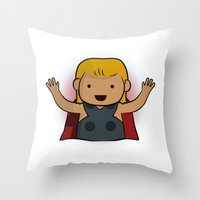 thor Throw Pillows featuring Thor by Joe Bidmead