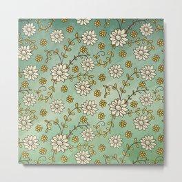 Vintage Floral 1 Metal Print