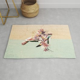 Turtle and bouquet Rug