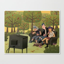 T.V. Party Canvas Print