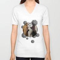 venice V-neck T-shirts featuring Venice by Caroline Fogaça