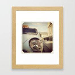 One Headlight Framed Art Print