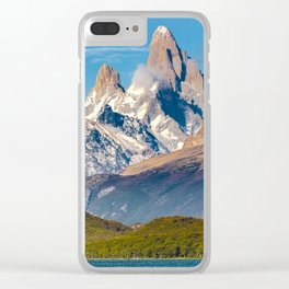 Lake and Andes Mountains, Patagonia - Argentina Clear iPhone Case
