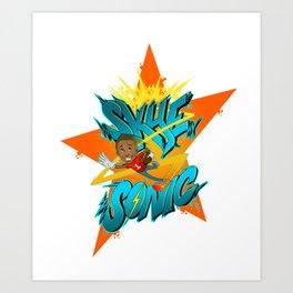 Skye Sonic Art Print