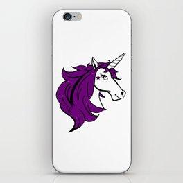 Colorful Cartoon Unicorn - Purple iPhone Skin