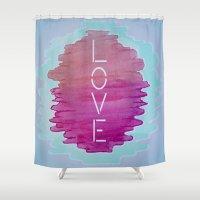 xoxo Shower Curtains featuring XOXO by Samantha Reichert