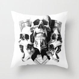 ominous dark without type Throw Pillow