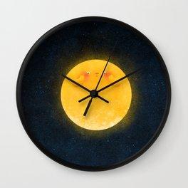 Shy Moon Wall Clock