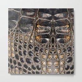American alligator Leather Print Metal Print