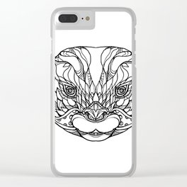 Oriental Small-clawed Otter Doodle Art Clear iPhone Case