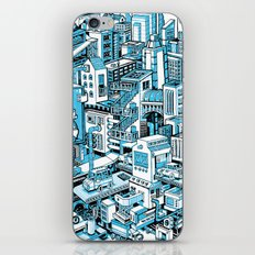 City Machine - Blue iPhone & iPod Skin