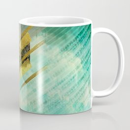 Fehu Rune Digital Art composition Coffee Mug