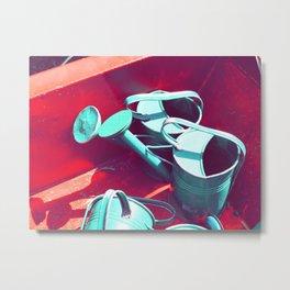 Watering Cans Metal Print