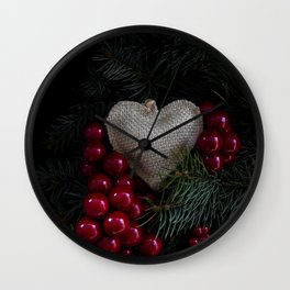 Heart in Christmas. Wall Clock