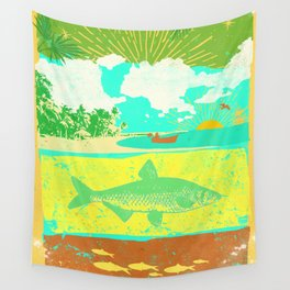 OCEAN FISHING Wall Tapestry